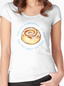 cinnamon roll too good too pure Women's Fitted Scoop T-Shirt
