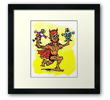 The Devil Plays with Dolls Framed Print