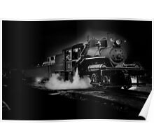 Old steam train along Oregons Hwy 101 Poster