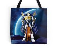 Giant Robot Phone Box with The Doctor Tote Bag