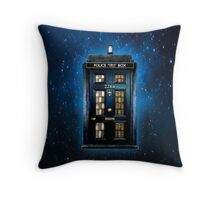 Space Traveller Box with 221b number Throw Pillow