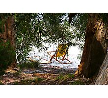 Deck chair on a summer afternoon  Photographic Print
