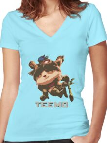 Teemo Women's Fitted V-Neck T-Shirt