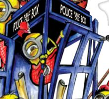 Phone booth Builder Sticker