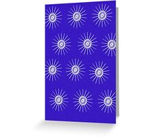 Purple Mandala Tizzy Greeting Card