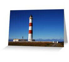 Tarbat Ness Lighthouse Entrance Greeting Card