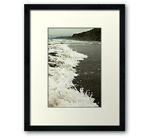 Foaming Surf Framed Print