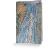 Waterfall Goddess Greeting Card