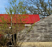Old farm, out buildings,  by Jeff Stroud