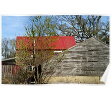 Old farm, out buildings,  Poster