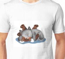 Teddy Bear Pillow for Gray Kitten Unisex T-Shirt