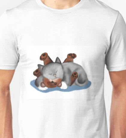Teddy Bear Pillow for Gray Kitten Unisex T-Shirt