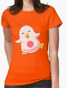 Yun baby wall penguin Womens Fitted T-Shirt
