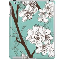 Blue Floral # 2 iPad Case/Skin