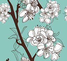 Blue Floral # 2 by shelbmcintyre