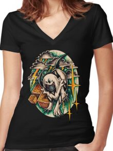 Absol Women's Fitted V-Neck T-Shirt