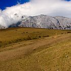 Panorama of Jade Dragon Snow Mountain Lijiang Yunan Province China  by MiImages