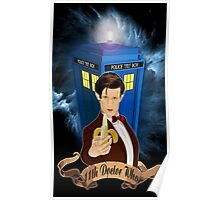 Time and Space Traveller with Banana Poster