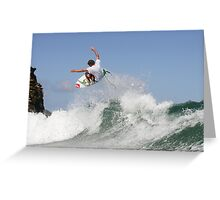 ANDREW MOONEY FLOATING Greeting Card