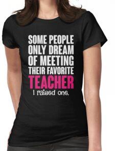 Proud Teacher Mom Womens Fitted T-Shirt