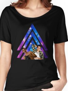Black Dylan O'Brien Arrow Women's Relaxed Fit T-Shirt