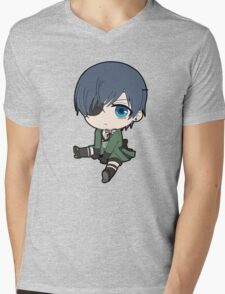Black Butler: Ciel Phantomhive chibi Mens V-Neck T-Shirt
