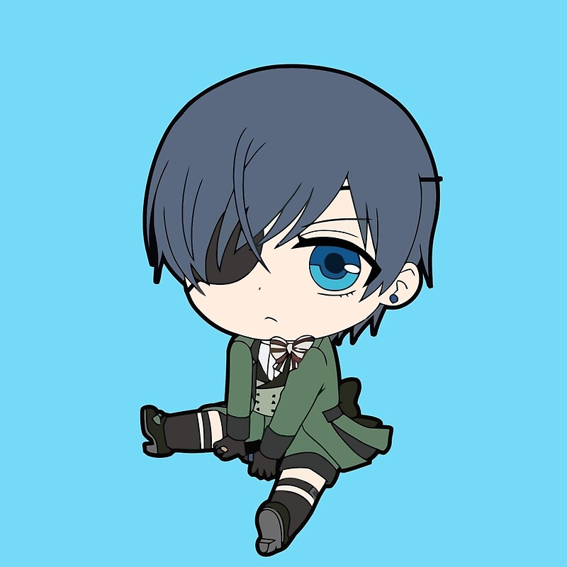 "Black Butler: Ciel Phantomhive chibi"" by Chibify 