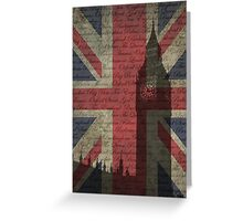 London-Typography Greeting Card
