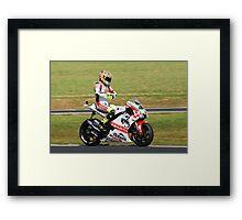 Valentino Rossi on his Yamaha (YZR-M1) Framed Print
