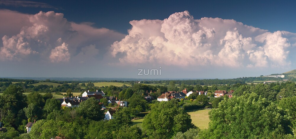 Turbulent cloud system by zumi