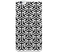 Black and White Geometric Pattern iPhone Case/Skin
