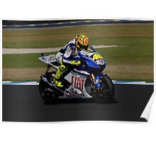 Valentino Rossi on his Yamaha (YZR-M1) Poster