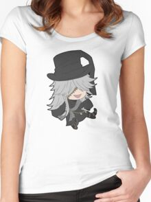 Black Butler Undertaker chibi Women's Fitted Scoop T-Shirt