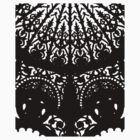 Decorative Black Print by Orla Cahill