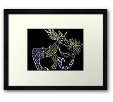 mermaid and her pet hippocampus Framed Print