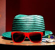 Fancy Hat & Red Sunglasses by pcimages