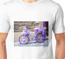 Purple bicycle Unisex T-Shirt
