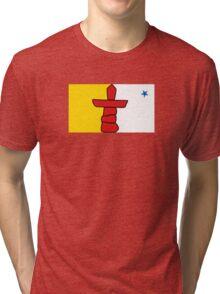 Flag of Nunavut  Tri-blend T-Shirt