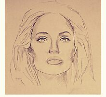 Portrait of Angelina Jolie by greatnorris