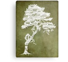 The Bodhi Tree of Awareness (White Version) Metal Print
