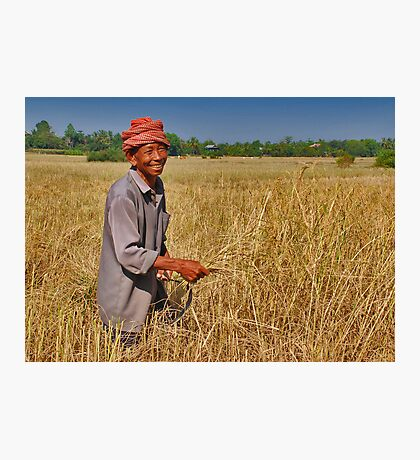 Rice Farmer Photographic Print