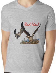 Bad Idea! Mens V-Neck T-Shirt