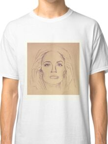 Portrait of Angelina Jolie Classic T-Shirt