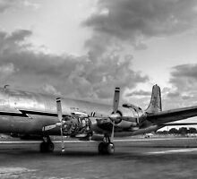 Vintage 1956 DC-7 by Bill Wetmore