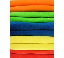 B is for Beach towels Photographic Print