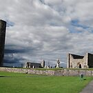 Clonmacnoise, Co Offaly, Ireland. by Paula Cowley
