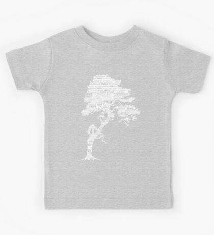 The Bodhi Tree of Awareness (White Version) Kids Tee