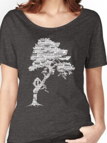 The Bodhi Tree of Awareness (White Version) Women's Relaxed Fit T-Shirt