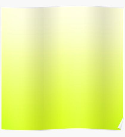 Trendy Neon Yellow to Vintage White Ombre Gradient Poster