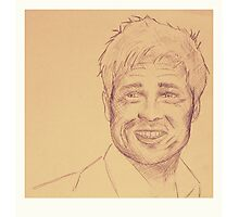 Portrait of Brad Pitt Photographic Print